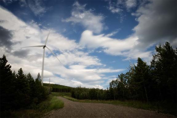 tumbler ridge wind energy