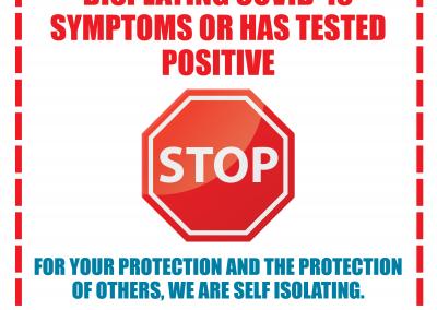 Door Sign - Symptoms