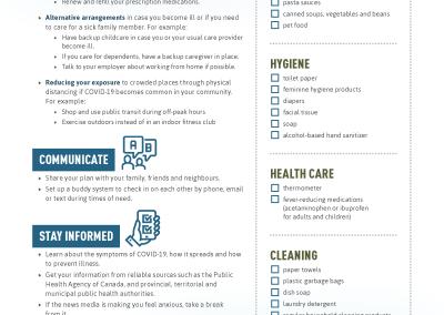 Covid 19 Be Prepared Infographic